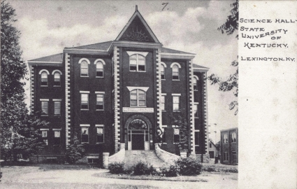 Completed in 1898 as Science Hall, Miller Hall is one of four 19th century buildings still standing on the UK campus. It is located in central campus across the plaza from Patterson Office Tower. Currently, it houses Undergraduate Studies, the Gyula Pauer Cartography Lab, other Department of Geography offices, and School of Architecture studios. Photo courtesy of UK Special Collections.
